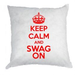Подушка KEEP CALM and SWAG ON