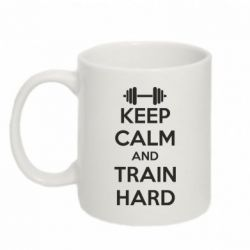 Кружка 320ml KEEP CALM and TRAIN HARD - FatLine