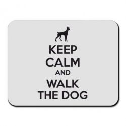 Коврик для мыши KEEP CALM and WALK THE DOG - FatLine