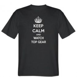 Мужская футболка KEEP CALM and WATCH TOP GEAR - FatLine