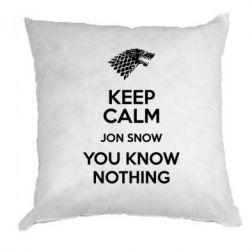 Подушка Keep Calm Jon Snow