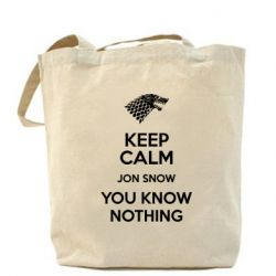 Сумка Keep Calm Jon Snow - FatLine