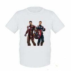 Детская футболка Кэп и Тони - FatLine