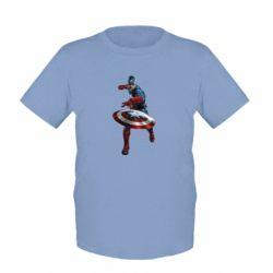 Детская футболка Кэп - FatLine
