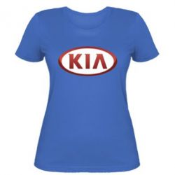 Женская футболка KIA 3D Logo - FatLine
