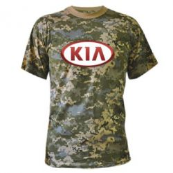 Камуфляжная футболка KIA 3D Logo - FatLine