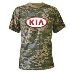 Камуфляжная футболка KIA 3D Logo