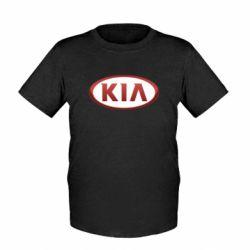 Детская футболка KIA 3D Logo - FatLine