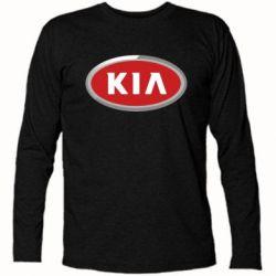 Футболка с длинным рукавом KIA Logo 3D - FatLine