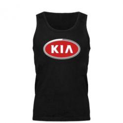 Мужская майка KIA Logo 3D - FatLine