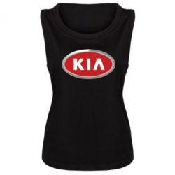 Женская майка KIA Logo 3D - FatLine