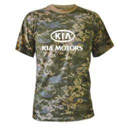 Камуфляжная футболка Kia Logo - FatLine