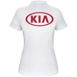 Женская футболка поло KIA - FatLine