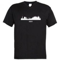 Мужская футболка  с V-образным вырезом KIEV - FatLine