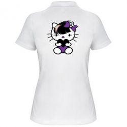 Женская футболка поло Китти Эмо