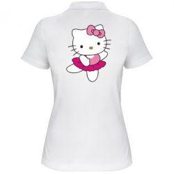 Жіноча футболка поло Kitty балярина - FatLine
