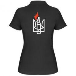 Женская футболка поло Коктейль Молотова - FatLine