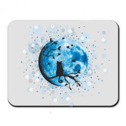 Коврик для мыши Кот и Луна