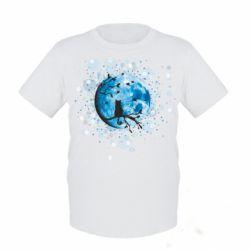 Детская футболка Кот и Луна