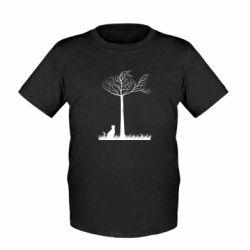 Детская футболка Кот прыгает на дерево - FatLine
