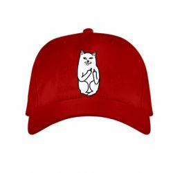 Детская кепка Кот с факом