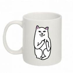 Кружка 320ml Кот с факом - FatLine