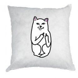 Подушка Кот с факом - FatLine