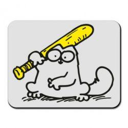 Коврик для мыши Кот Саймона с битой - FatLine