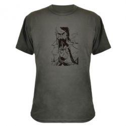 Камуфляжная футболка Козачина з люлькою - FatLine