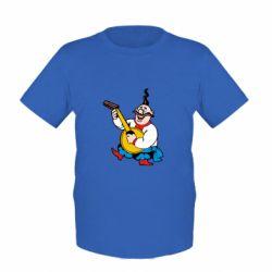 Детская футболка Козак с бандурой - FatLine