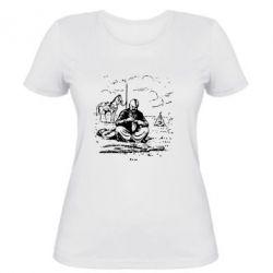 Женская футболка Козак та кінь - FatLine
