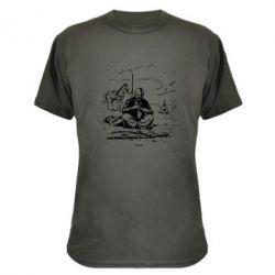 Камуфляжная футболка Козак та кінь - FatLine