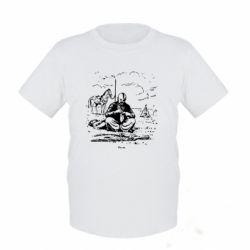 Детская футболка Козак та кінь - FatLine