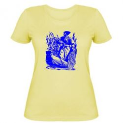 Женская футболка Козак у камишу - FatLine
