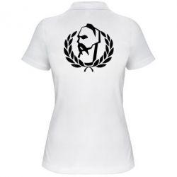 Женская футболка поло Козак у вінку - FatLine