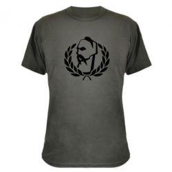 Камуфляжная футболка Козак у вінку - FatLine