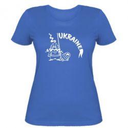 Женская футболка Козак з гарматою - FatLine