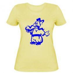 Женская футболка Козак з люлькою - FatLine