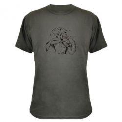 Камуфляжная футболка Козак з щитом - FatLine