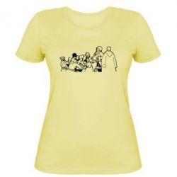 Женская футболка Козаки пишуть письмо султану - FatLine