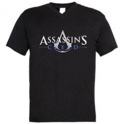 Мужская футболка  с V-образным вырезом Кредо убийцы - FatLine