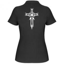 Женская футболка поло Крест 2