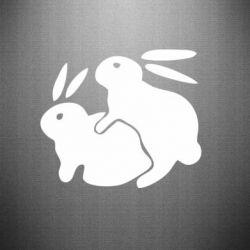 Наклейка Кролики - FatLine