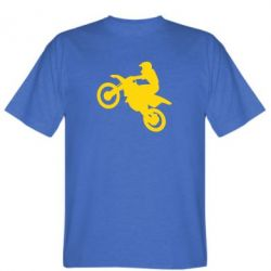 Мужская футболка Кроссовый мотоцикл - FatLine