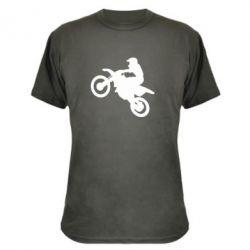 Камуфляжная футболка Кроссовый мотоцикл - FatLine