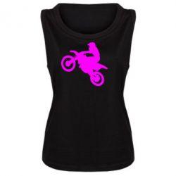 Женская майка Кроссовый мотоцикл - FatLine
