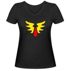Женская футболка с V-образным вырезом Кровавые Ангелы - WarHammer
