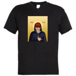 Мужская футболка  с V-образным вырезом Кровосток Шило - FatLine