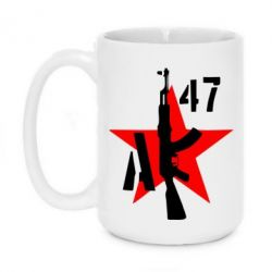 Кружка 420ml AK 47 star