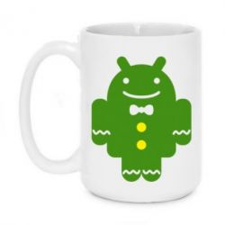 Кружка 420ml Android в костюме - FatLine